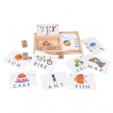 Wooden English Cardboard Puzzle, English Enlightenment Early Learning Word Card