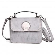Slim Square Handbag, Retro Fog Wax Leather Handbag