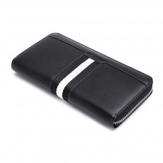 Canvas Long Wallet with Smooth Zipper, Multi-card Large Capacity Men's Clutch