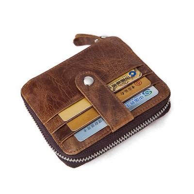 Fashion Men/'s Zipper Buckle PU Leather Money Wallet ID Credit Card Cash Holder