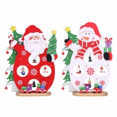 Cartoon Old Man Snowman Desktop Decoration, New Christmas Wooden Decorations