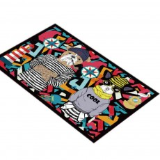 Cartoon Kitchen Porch Bathroom Anti-slip Mat, Bedroom Door Mat Floor Entry Carpet