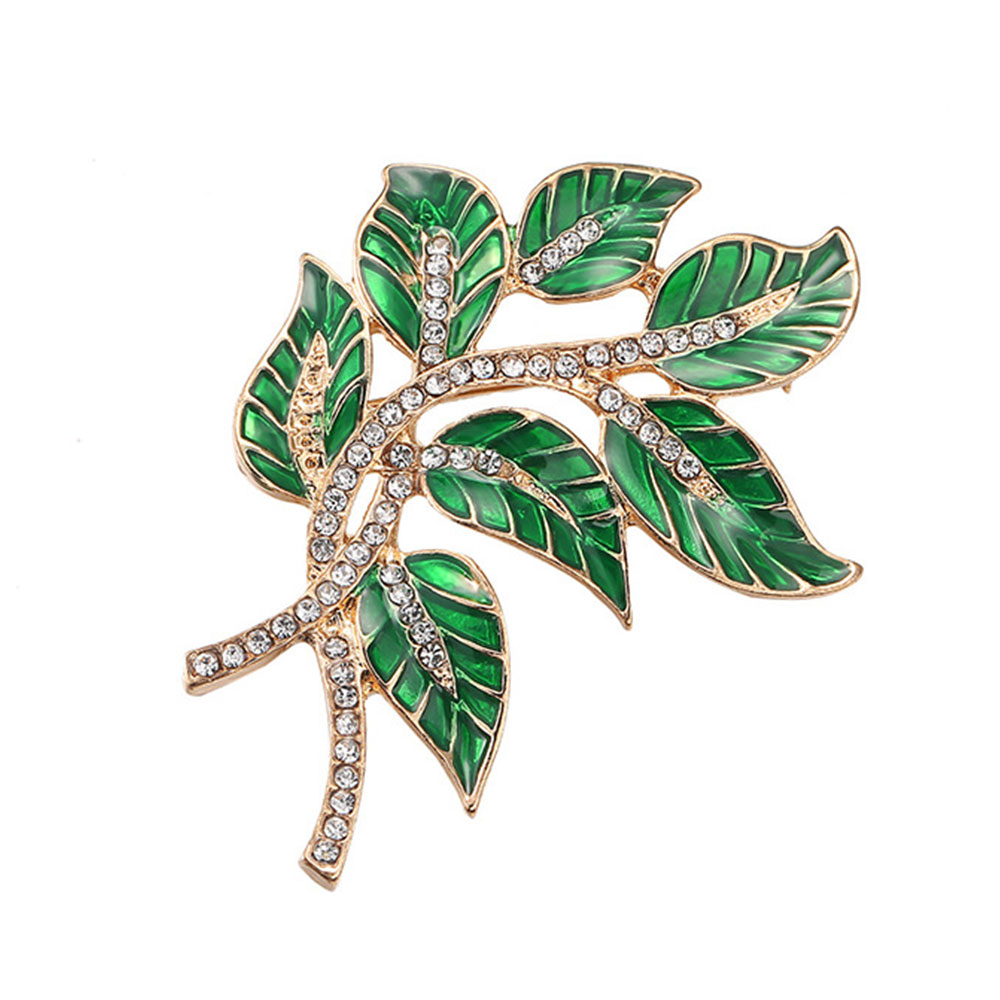 Alloy Diamond Brooch Pins, Women's Corsage with Dripping Oil Enamel Design