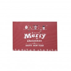 Christmas Tableware Mat, PVC Heat Insulation Pads for Cup and Bowl