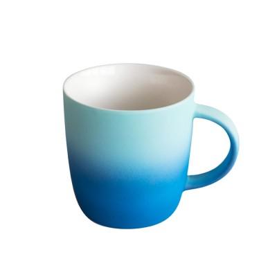 Elegant Porcelain Coffee Mug, Gradient Color Matte Ceramic Tea Cup