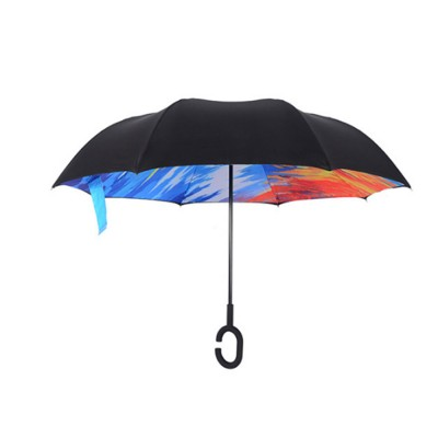 Double-layer Standing Umbrella, C-handle Car Reverse Umbrella