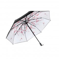 Sun Protection UV Resistant Black Umbrellas - Three Folding