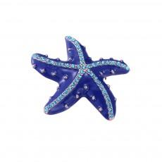 Swarovski Starfish Brooch, Marine Style Diamond-Encrusted Starfish Brooch