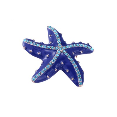 Swarovski Starfish Brooch, Marine Style Diamond-Encrusted Starfish Brooch