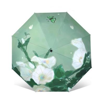 Rain and Sun Dual-use Sunscreen Black Umbrella UPF 50+