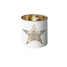 White Glass Candlestick Holder for Candlelight Dinner