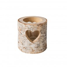 Wooden Candle Holder Hollow Heart Shaped for Candlelight Dinner