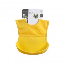 Baby Nylon Upper Waterproof Bib, Large Three-dimensional Soft Silicone Children's Eating Pocket Bib
