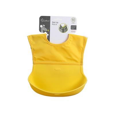Baby Nylon Upper Waterproof Bib, Large Three-dimensional Soft Silicone Children's Eating Pocket Bib
