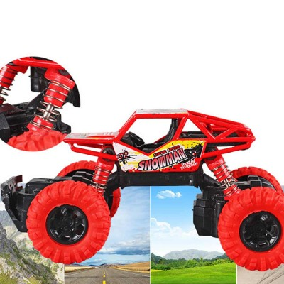 Off-road Vehicle Children's Toy Car, Q Version Cartoon Simulation Spring Shock Big Foot Four Wheel Climbing Car