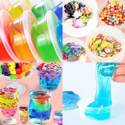 Colorful Non-toxic DIY Crystal Mud, Early Education Snowflake Mud  (12,24,36colors)