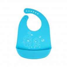 Three-dimensional Pocket Groove Baby's Bib, Waterproof Disposable Rice Bib with 6-button Design