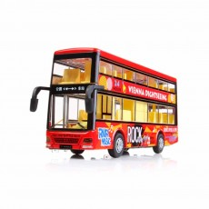 City Bus Model Toy Car, Simulation Alloy Model Toy Coach for Children
