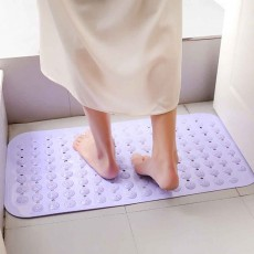 Bathroom Anti Slip Floor Mat, Suction Cup Massage Mat, Toilet Water-Proof Mat