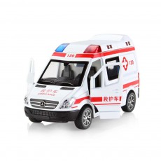 Simulation Children's Toy Car, Toy Ambulance, Police Car, Pull Back Car