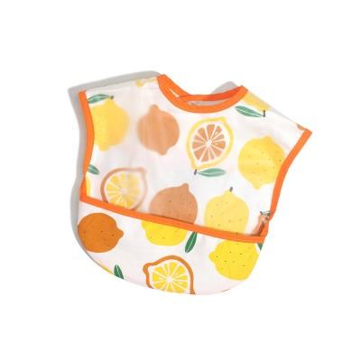 Orange and White Lattice pattern NEW Baby Bib