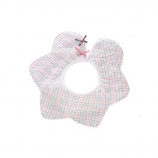 Baby's Double-layer Pure Cotton Waterproof Flower Bib, 360° Rotating Children's Saliva Towel