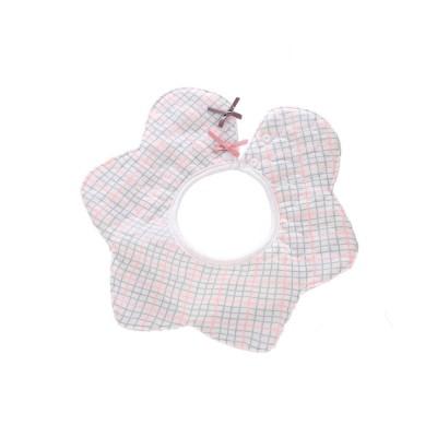 Baby's Double-layer Pure Cotton Waterproof Flower Bib, 360° Rotating Children's Saliva Towel