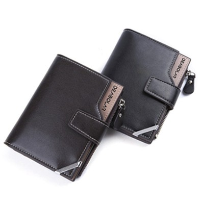 Business Multifunctional Men's Long Wallet with Multi-card And Three-fold, Durable Waterproof Wallet for Photos and Cards