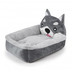 Kennel Washable Cartoon Dog Beds, Ultra-soft Short Plush & Lamb Cashmere Cute Peg Beds