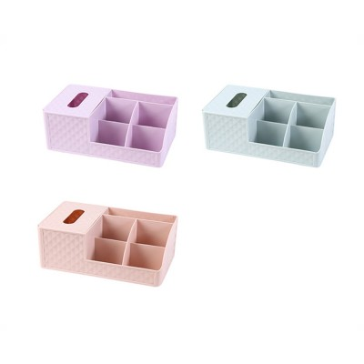 Office Desktop Makeup Organizer, Sundries Table Napkin Box Storage Holder