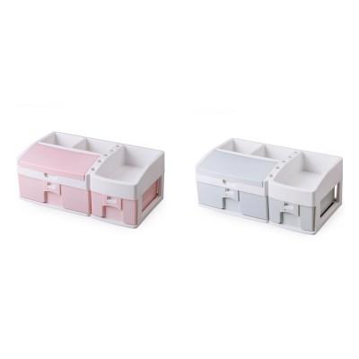 Desktop Dresser Jewelry Lipstick Makeup Organizer Holder, Drawer Type Storage Box for Cosmetic Skin Care Stuff