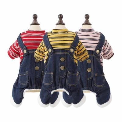 Thick Warm Jeans Pet Clothes, Four-legged Dog Clothes