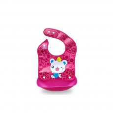 Waterproof Baby Bibs with Snaps Buttons, Silicone Baby's Eating Saliva Bib for Girls and Boys