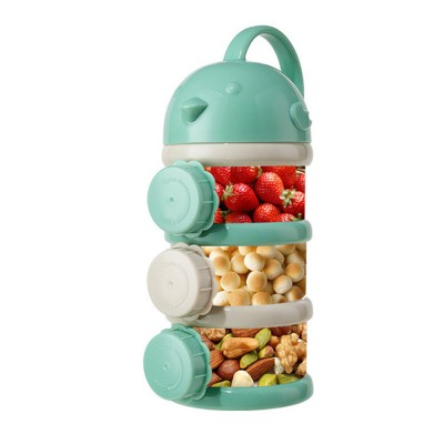 Portable Baby Infant Travel Formula Dispenser Container, 3 Layers Large Capacity Sealed Cans for Baby