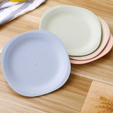 Dinner Service Square Plates, Eco-Friendly Wheat Straw Service Dish