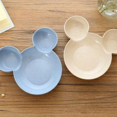 Disney Mickey Mouse Bowl, 3 In 1 Cartoon Mouse Sauce Fruit Nut Rice Service Bowl