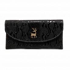 Two-fold Snake Purse, Sleek Minimalist Buckle Wallet for Ladies