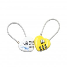 Hot Selling Mini Couple Luggage Lock, Heart Shaped Gift Lock, Love Wire Rope Password Lock