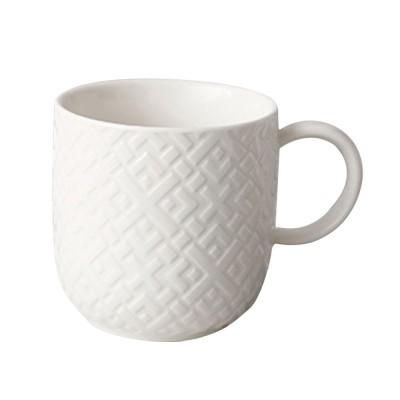Ceramic Embossed Mugs, Plain Color Porcelain Coffee Mugs For Household Coffee Shop Bookshop Restaurant