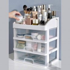 Drawer Type Makeup Organizer, Plastic Simple Cosmetic Holder Dormitory Commodity Shelf for Students