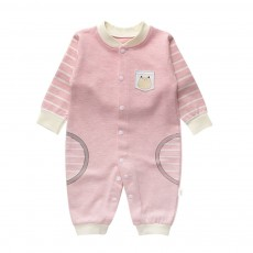 Long Sleeve Baby Jumpsuit for Spring Autumn Winter, Unisex 1-12 Months Baby Romper