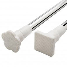 Stainless Steel Curtain Rod Clothes Pole, Telescopic Rod for Bathroom, Balcony