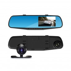 Rear View Mirror Camera Recorder, 1080P HD Driving Recorder For Night Vision Parking Monitoring