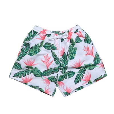 Mens Dense Flower Pattern Swimsuit, Swimsuit Beach Pants For Men and Children
