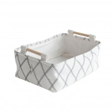 Fashionable Canvas Storage Box with Handle, Collapsible Storage Bin for Laundry, Toy Organizer
