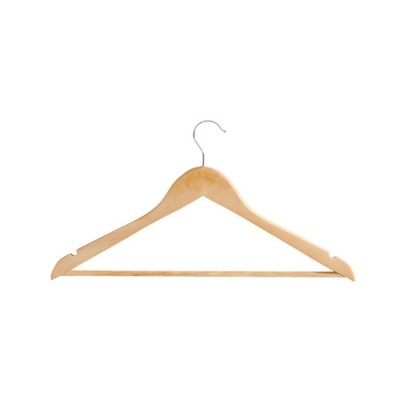 Solid Wooden Suit Hangers With Locking Bar, Sturdy Multifunctional Clothes Hanger For Wardrobe
