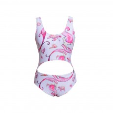 Fashionable Mermaid Bathing Suit for Parent-child, Polyester Fiber One-piece Swimming Suit