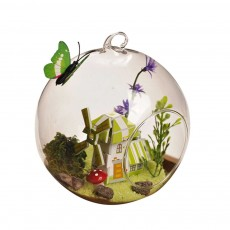 Hanging Glass Terrarium Miniature House Decoration for House, Office, Room,Gift