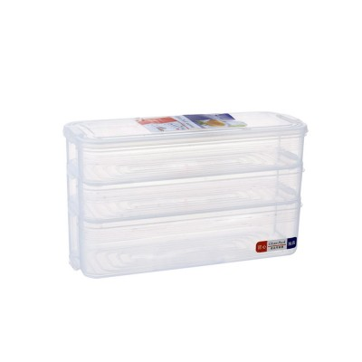 Japanese Style Food Crisper for Fridge Use, Multifunctional Fresh Container Storage Box with multi-layer