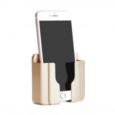 Wall Mount Phone Holder with Adhesive Strips, Charging Holder Compatible with iPhone, Smart Phone